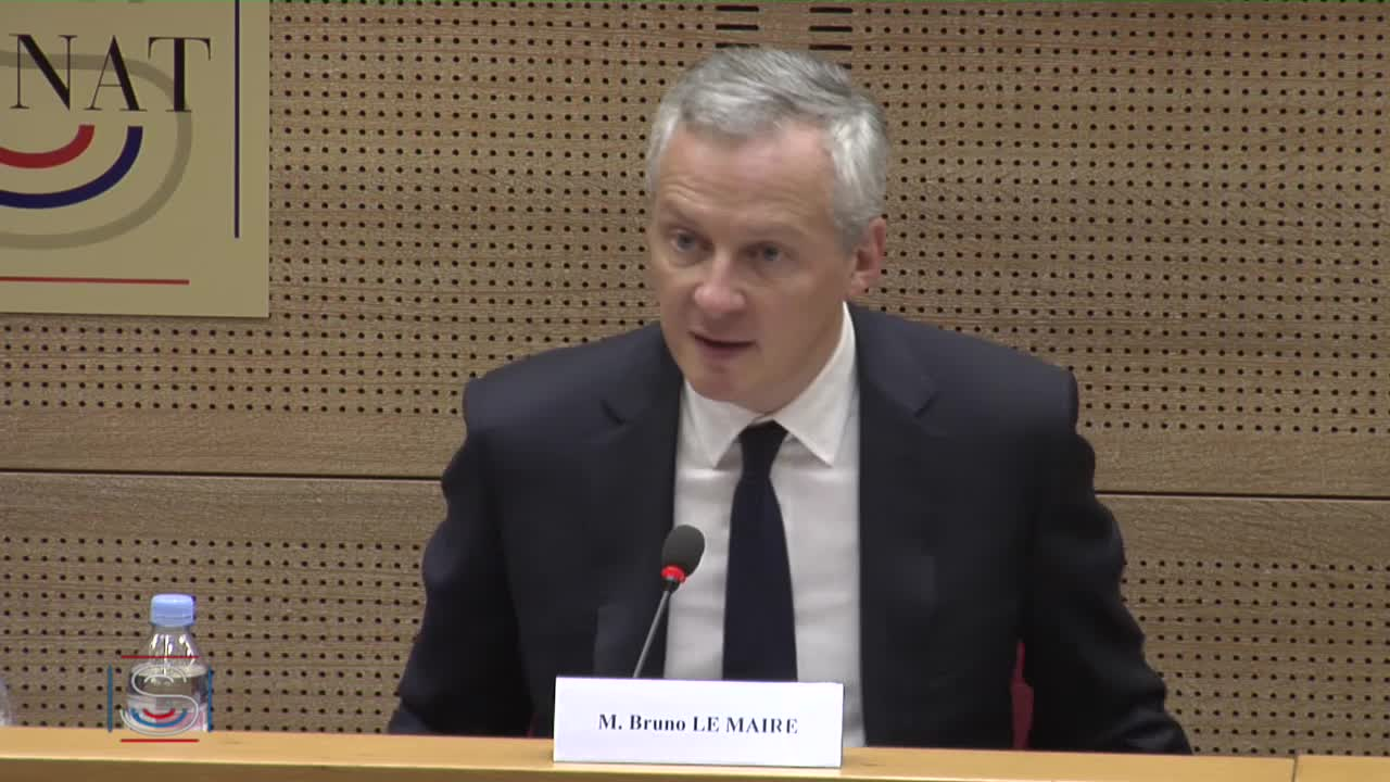 Audition de M. Bruno Le Maire, ministre